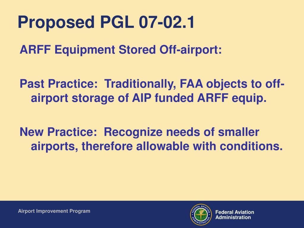Proposed PGL 07-02.1