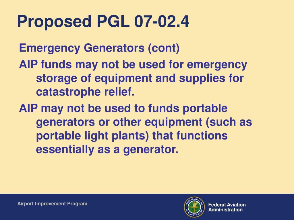 Proposed PGL 07-02.4