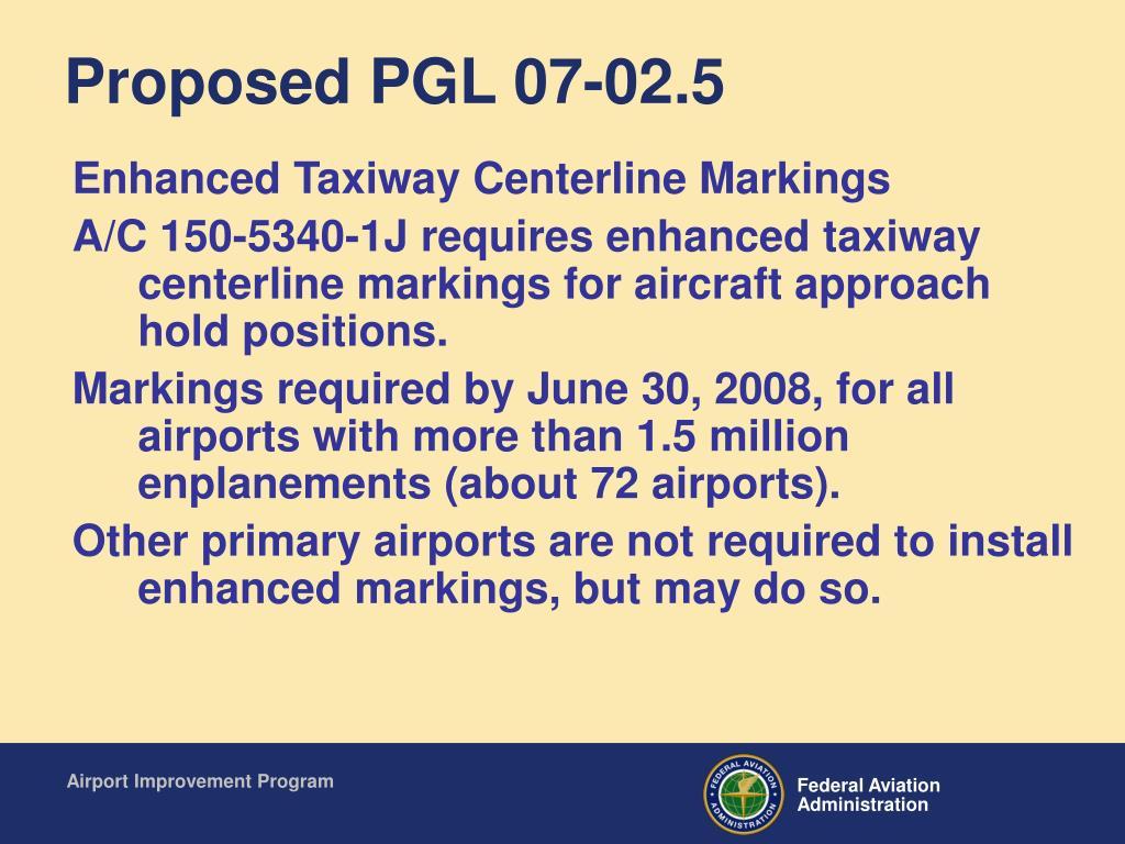 Proposed PGL 07-02.5