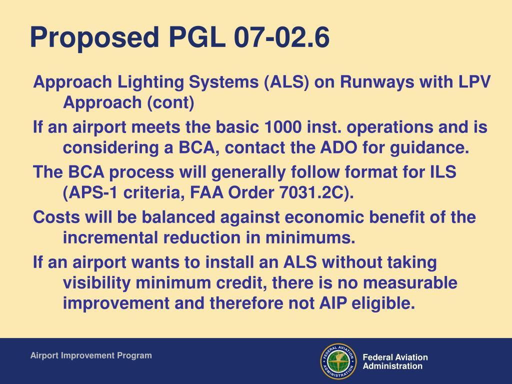 Proposed PGL 07-02.6