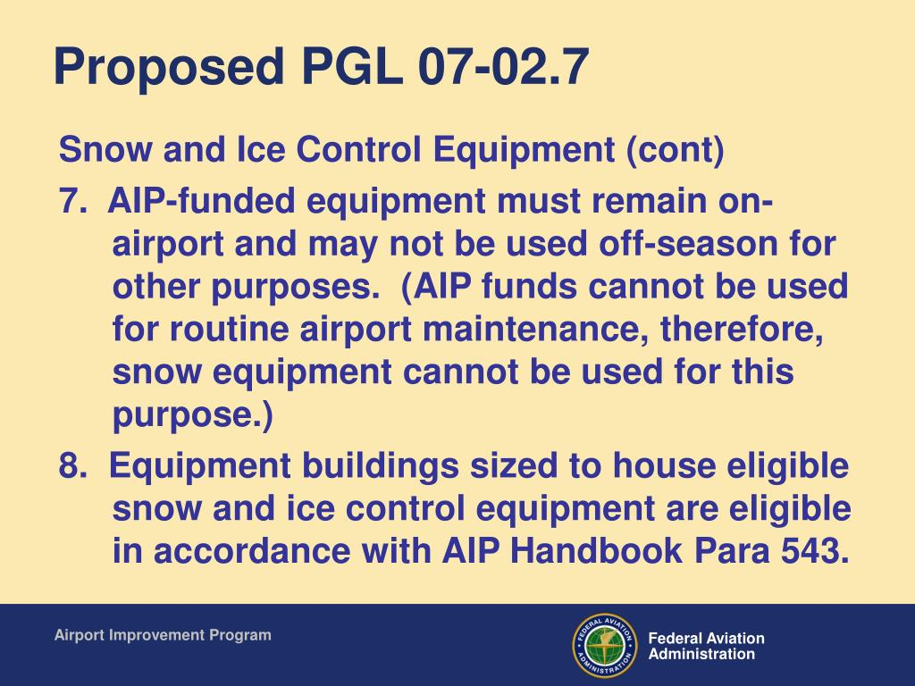Proposed PGL 07-02.7