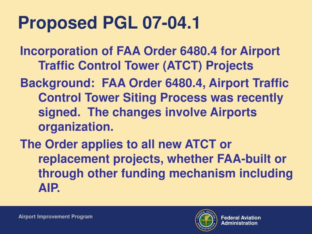 Proposed PGL 07-04.1