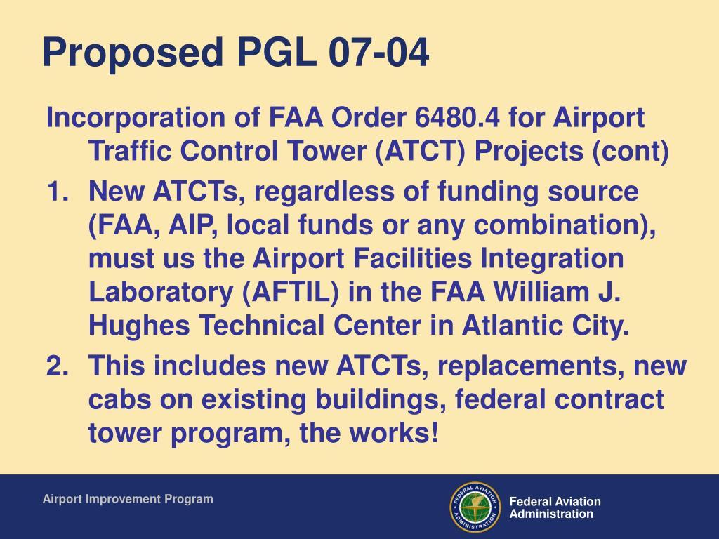 Proposed PGL 07-04
