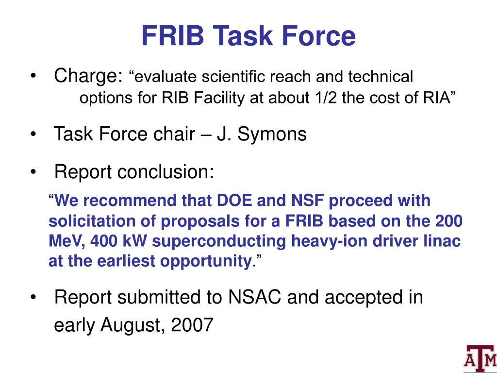 FRIB Task Force