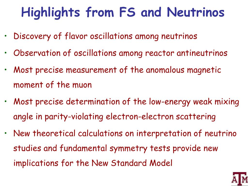 Highlights from FS and Neutrinos