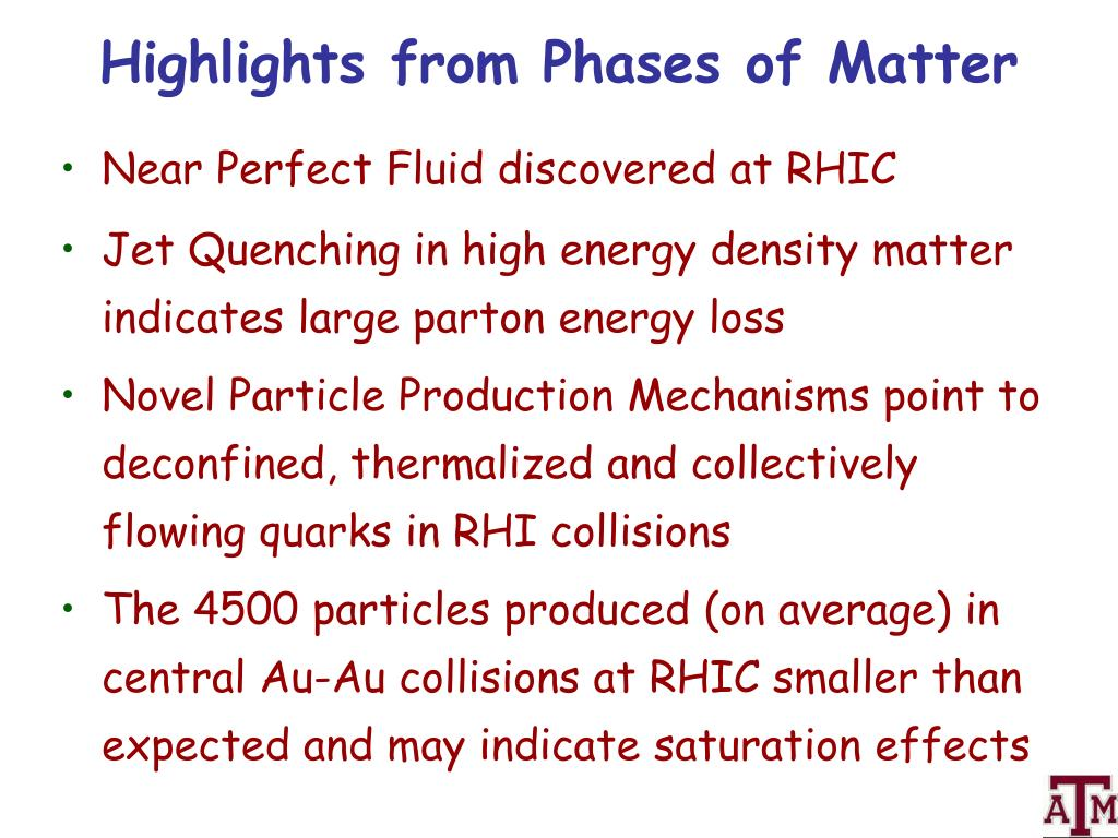 Highlights from Phases of Matter
