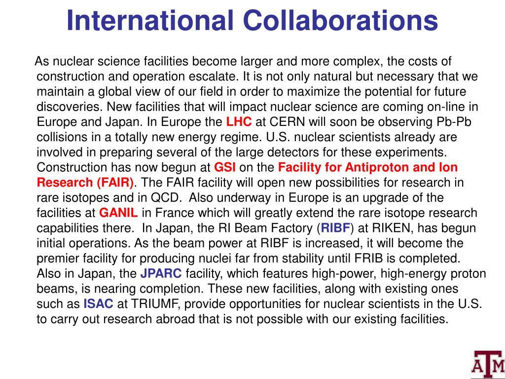 International Collaborations