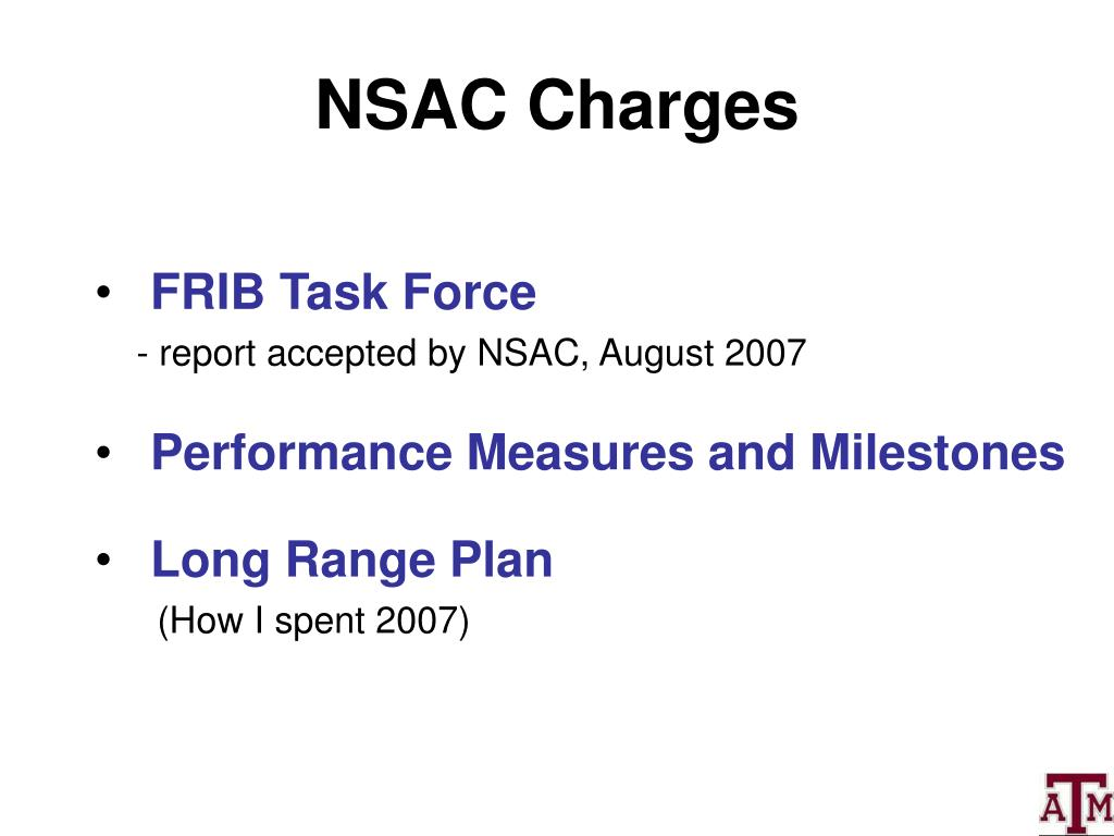 NSAC Charges