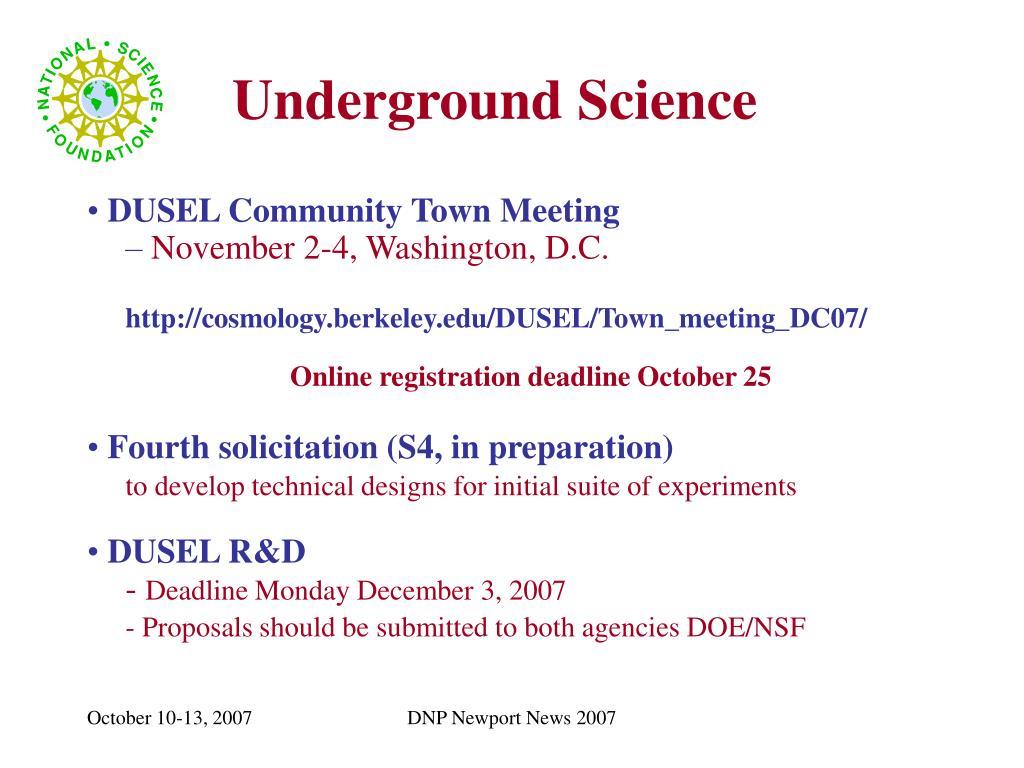 Underground Science