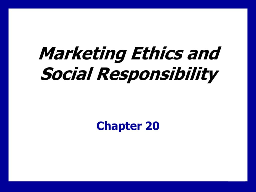 marketing ethics and social responsibility l.