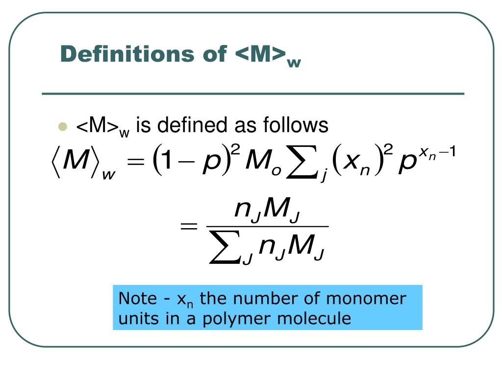 Definitions of <M>