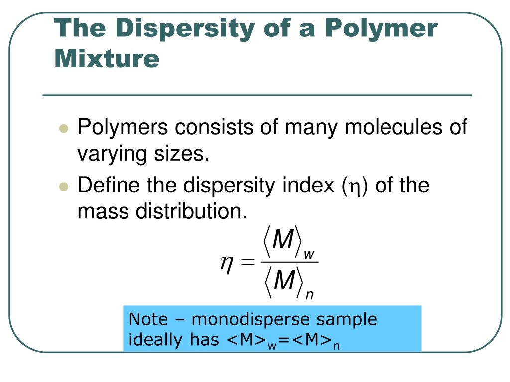 The Dispersity of a Polymer Mixture