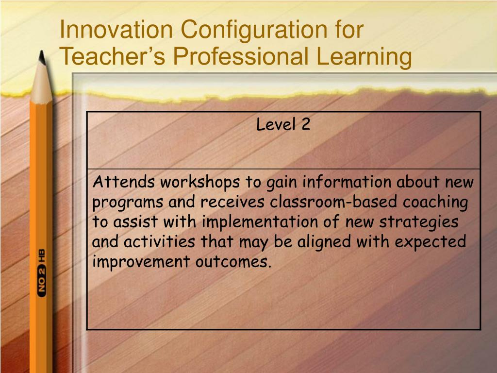 Innovation Configuration for Teacher's Professional Learning