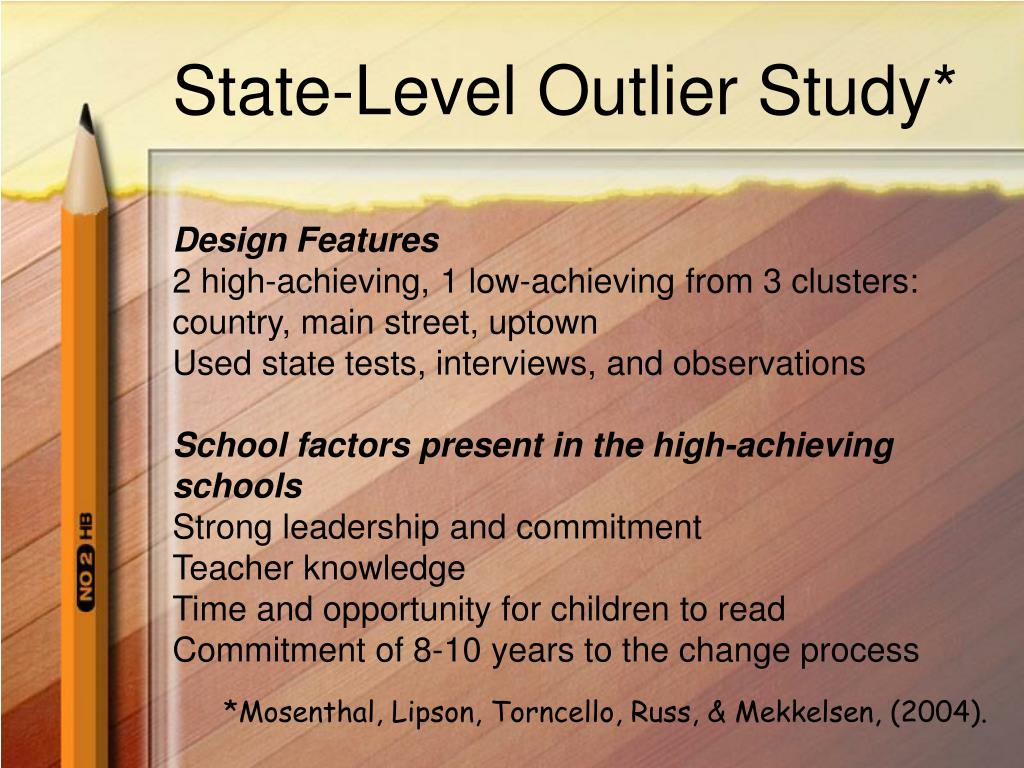State-Level Outlier Study*