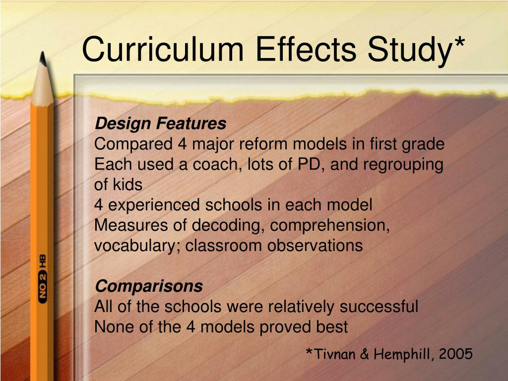 Curriculum Effects Study*