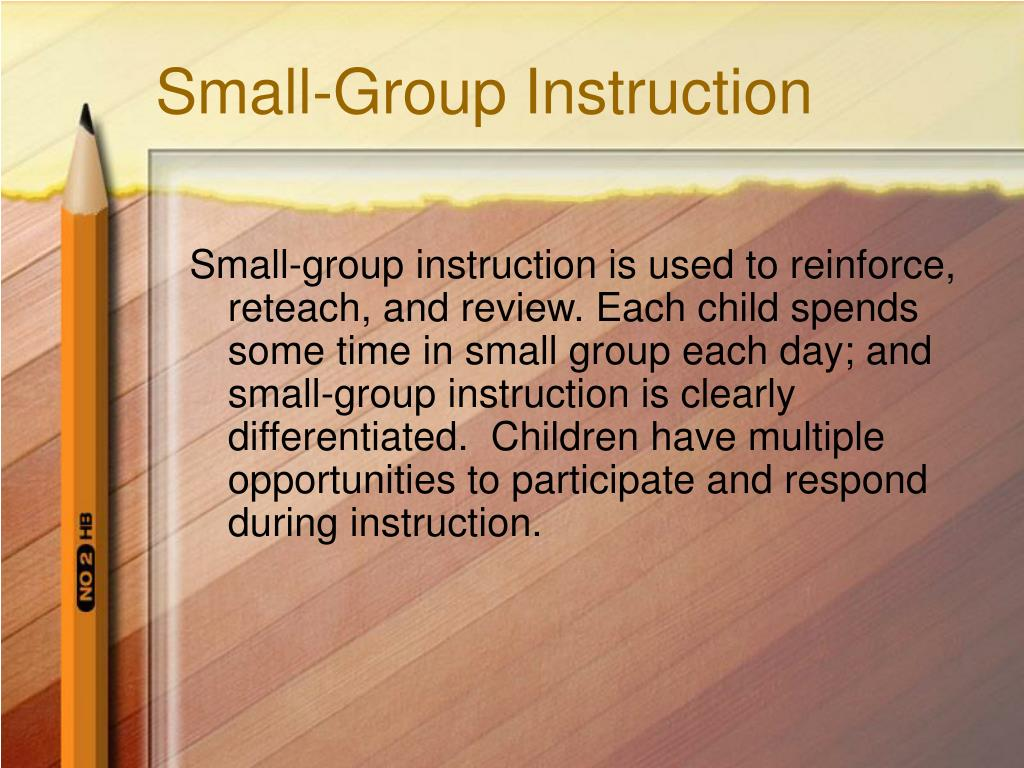 Small-Group Instruction