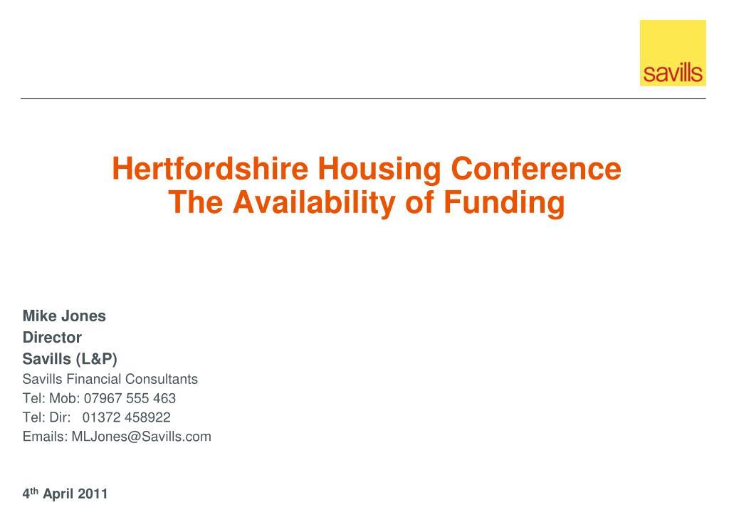 Hertfordshire Housing Conference