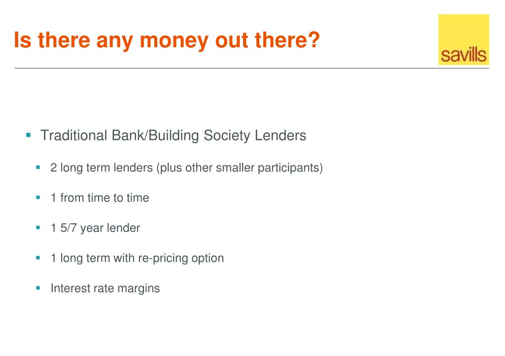 Traditional Bank/Building Society Lenders