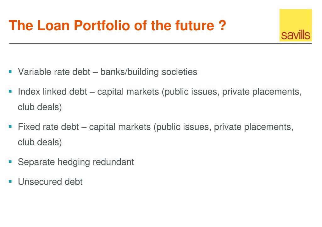 Variable rate debt – banks/building societies