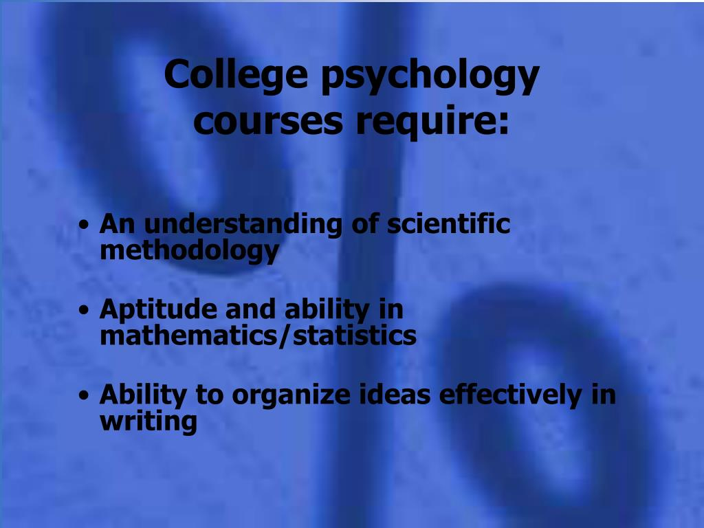 College psychology