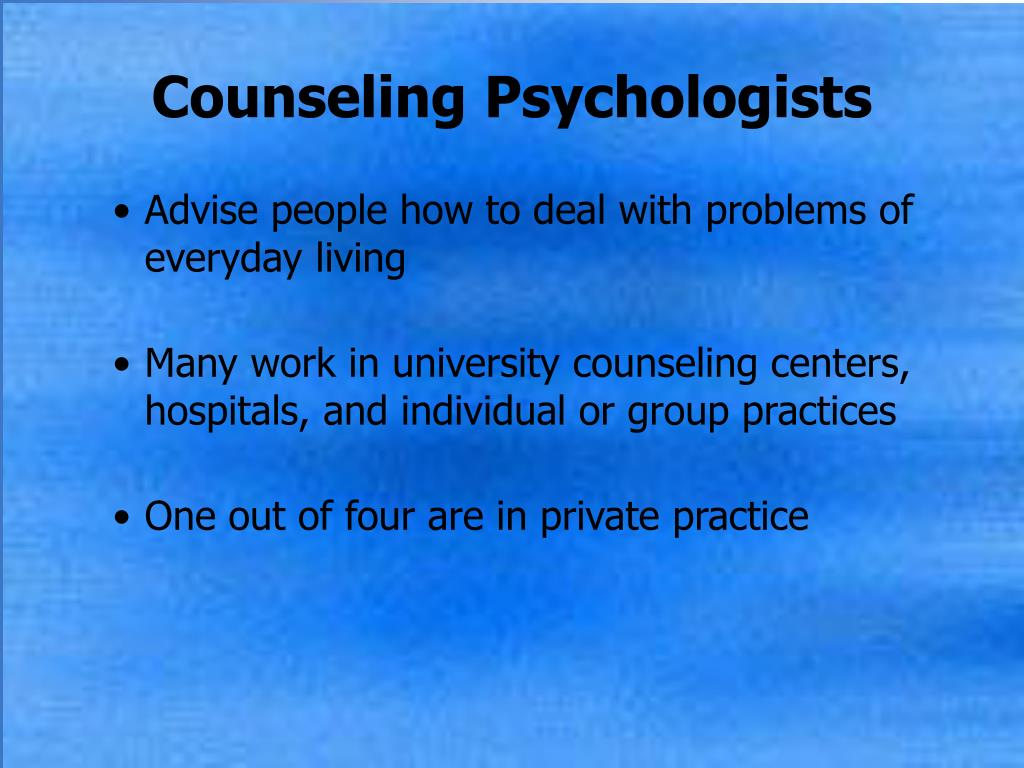 Counseling Psychologists