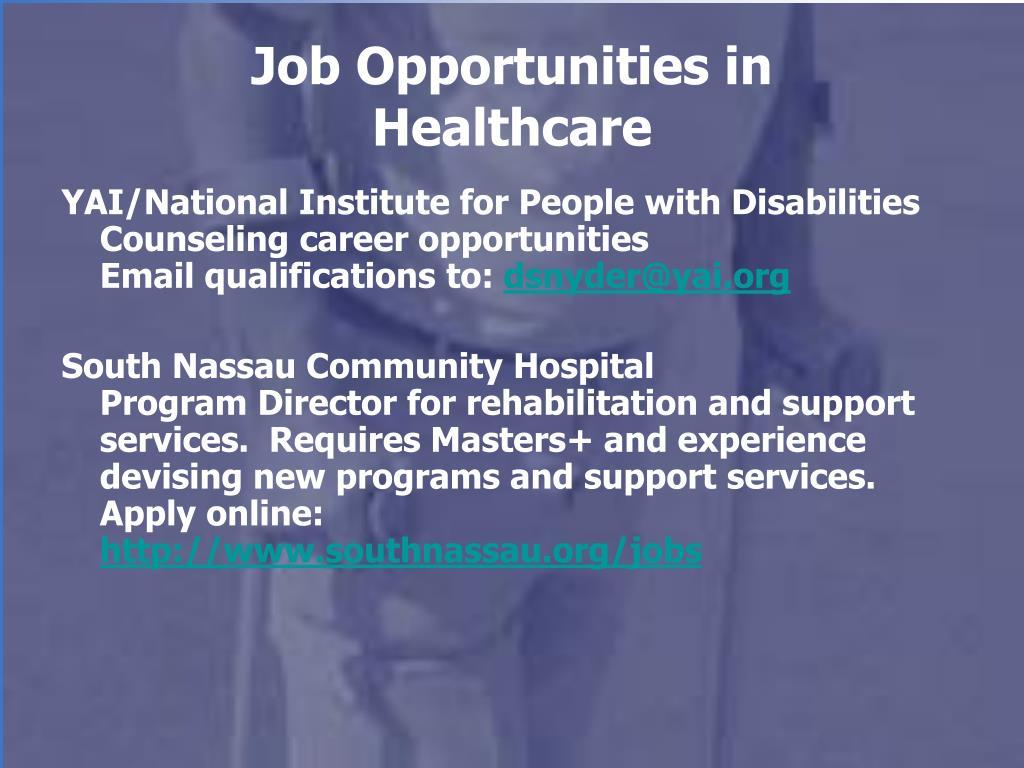 Job Opportunities in