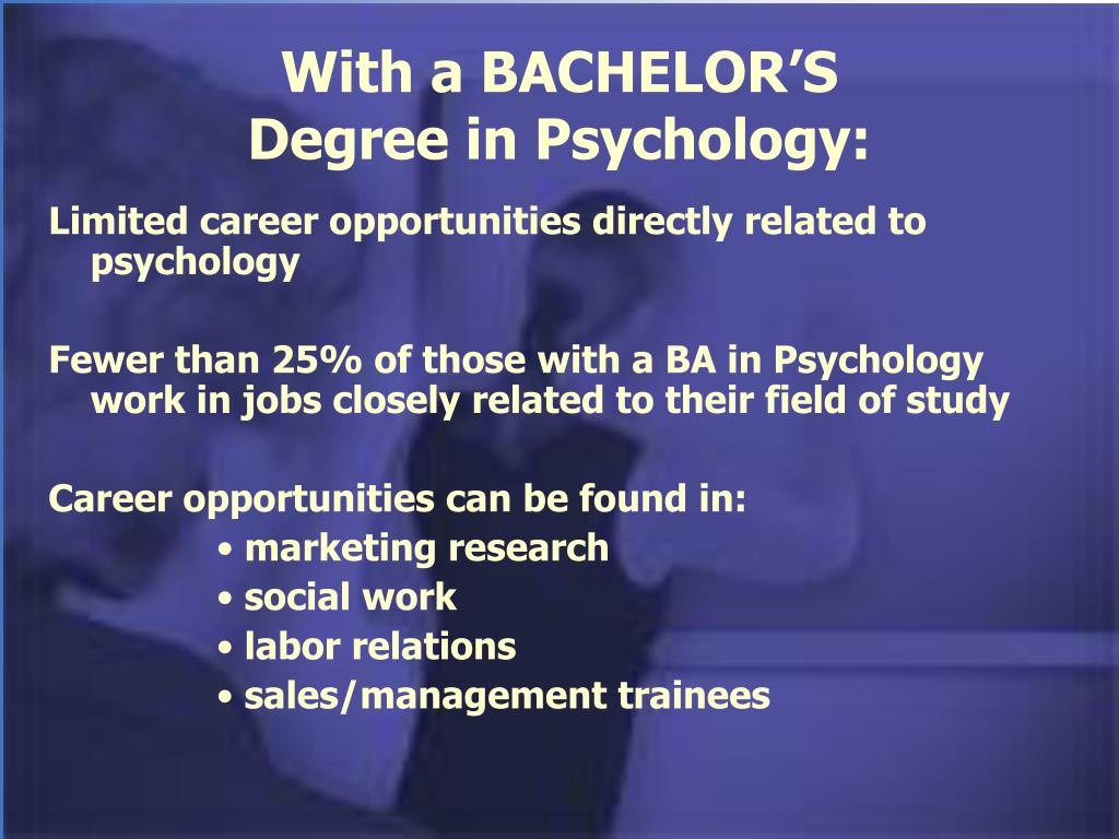 With a BACHELOR'S