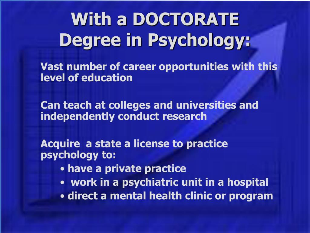 With a DOCTORATE