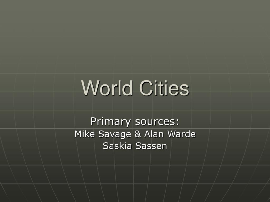 world cities l.