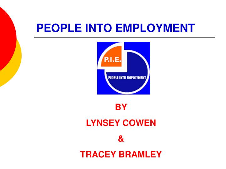 People into employment