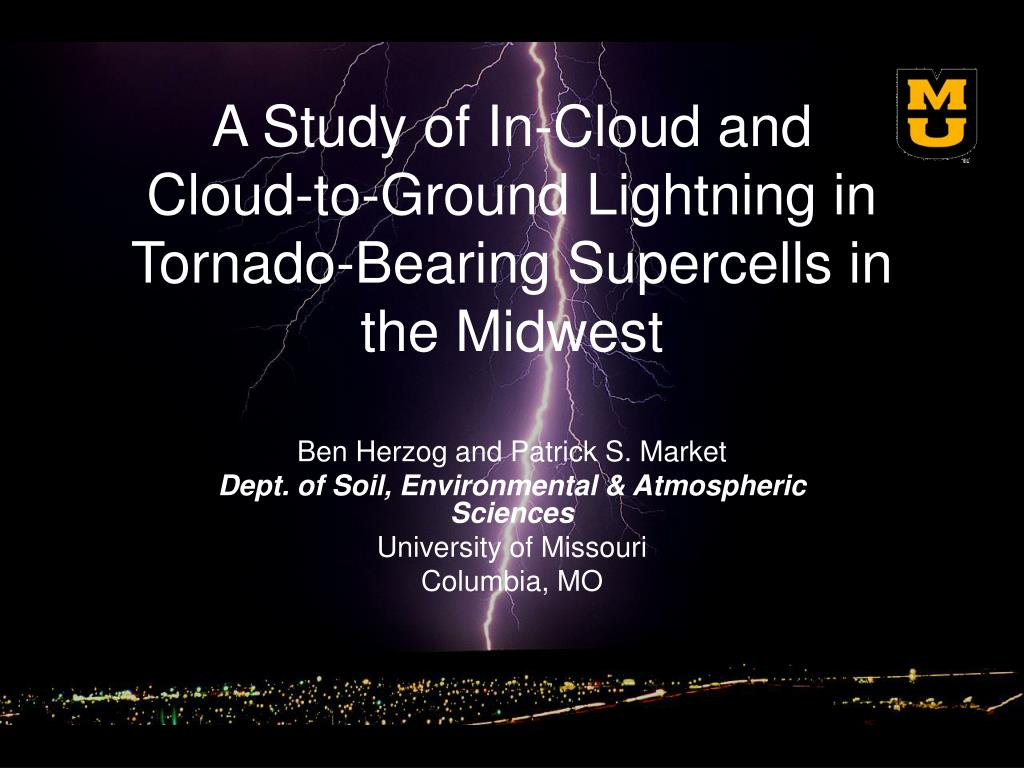 a study of in cloud and cloud to ground lightning in tornado bearing supercells in the midwest