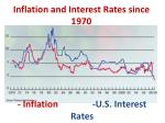 inflation and interest rates since 1970
