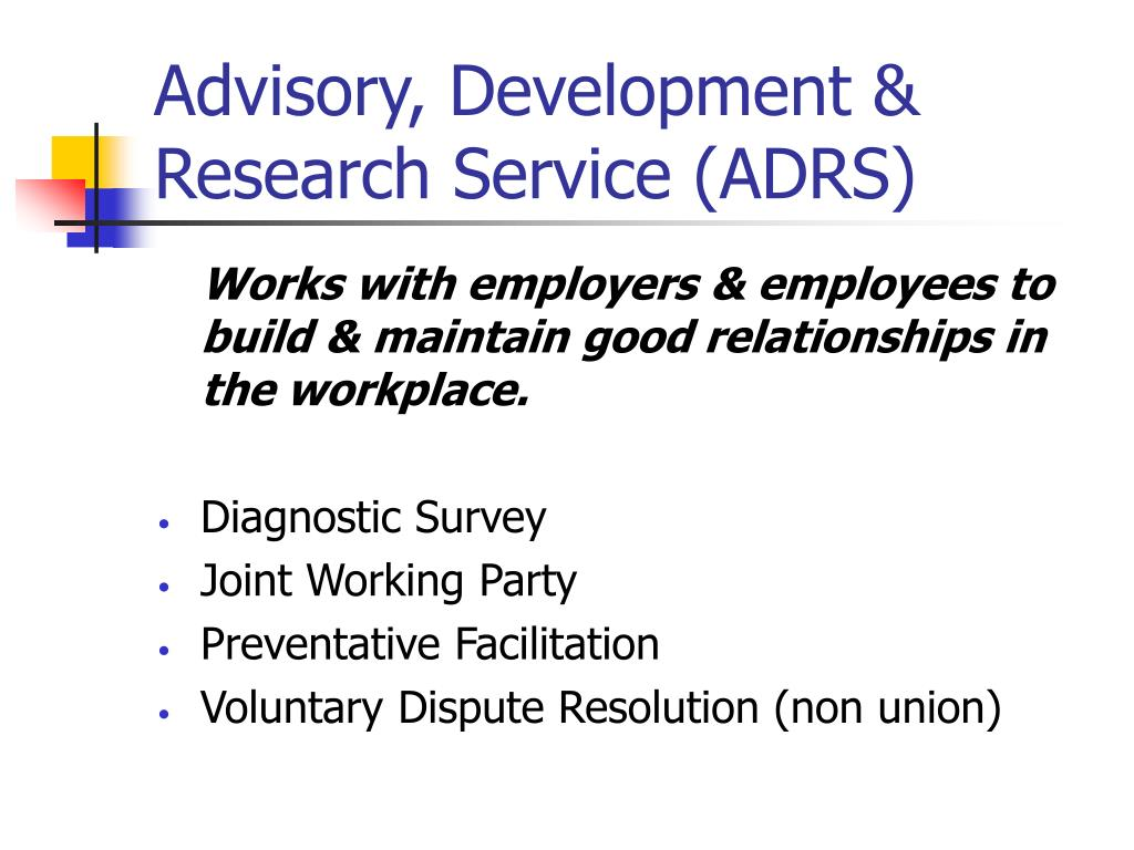 Advisory, Development & Research Service (ADRS)