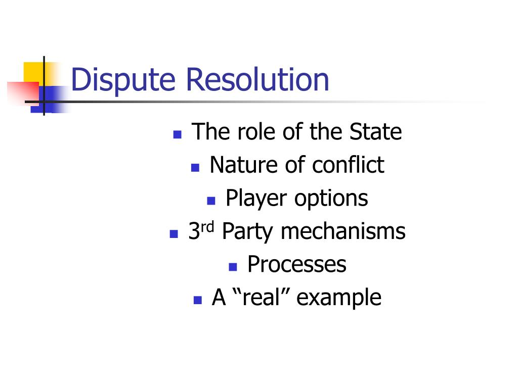 dispute resolution l.