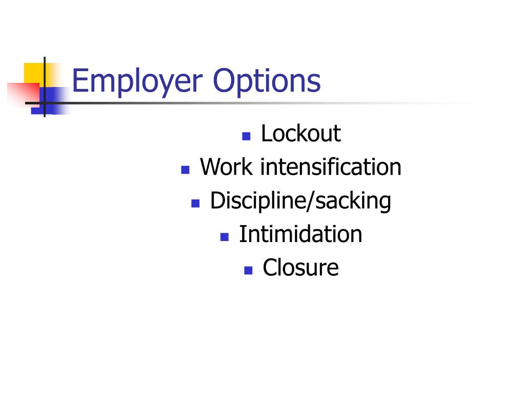 Employer Options