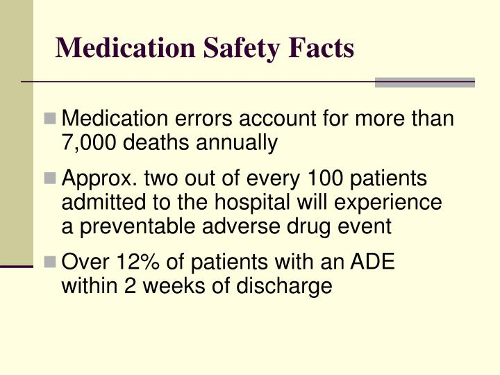 Medication safety facts