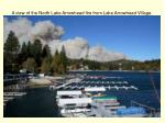 a view of the north lake arrowhead fire from lake arrowhead village