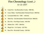 fire chronology cont 10 22 2007