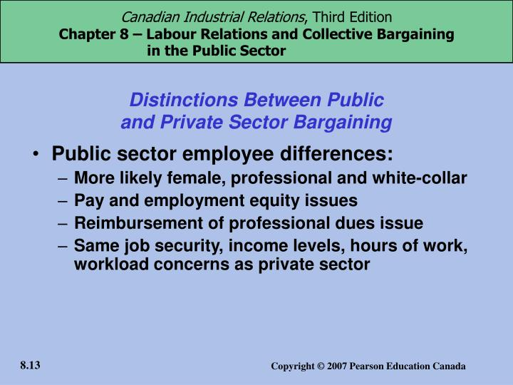 industrial relations problems in the public sector
