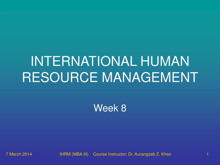 human resource management week 7 case