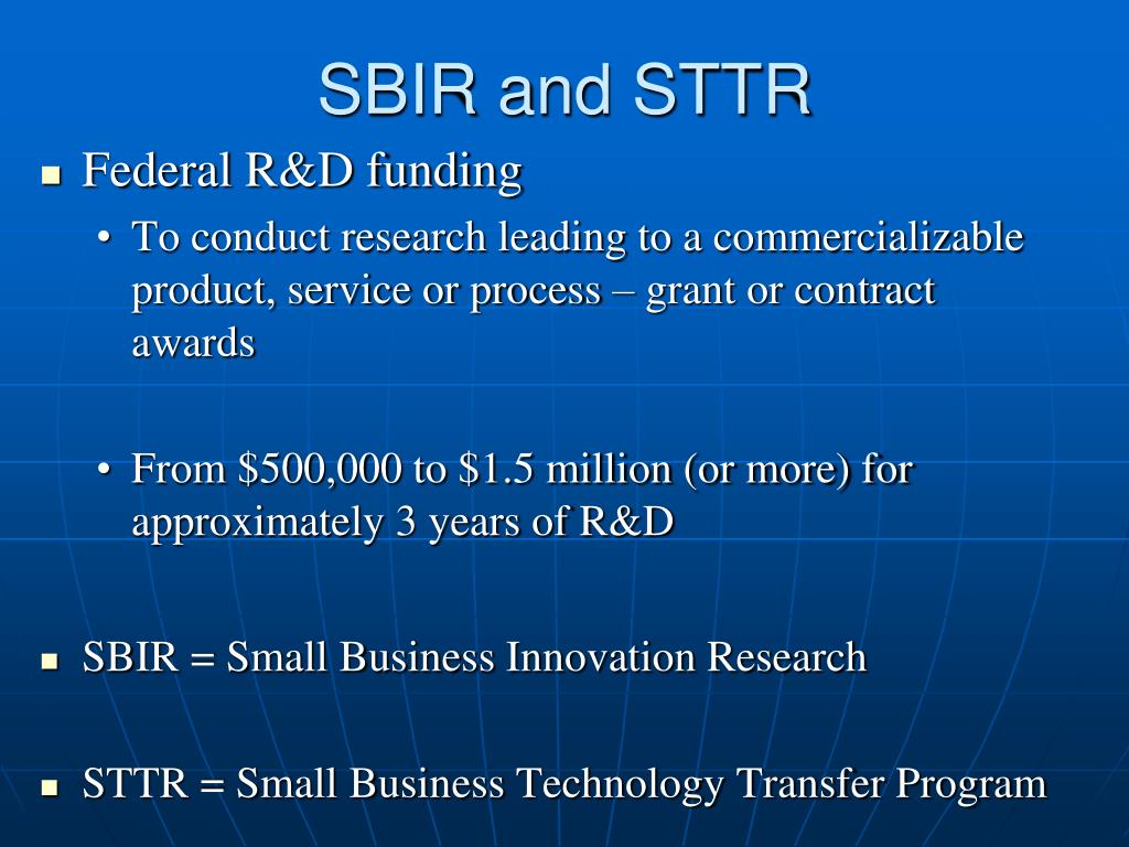 SBIR and STTR