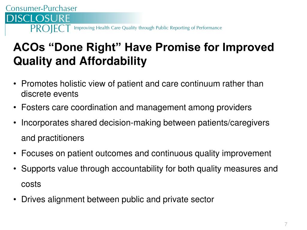 Promotes holistic view of patient and care continuum rather than discrete events