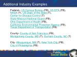 additional industry examples