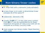 non binary linear codes