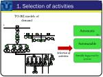 1 selection of activities