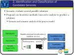 2 identification and classification of candidate services