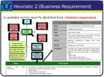 heuristic 2 business requirement