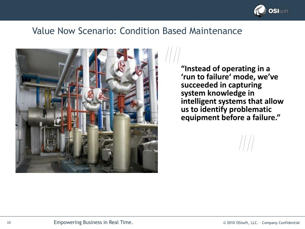 Value Now Scenario: Condition Based Maintenance