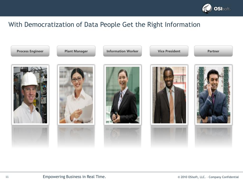 With Democratization of Data People Get the Right Information