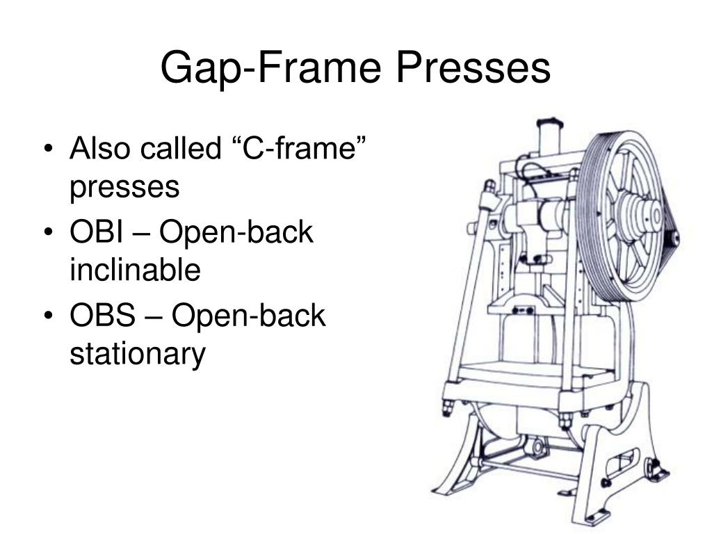 Gap-Frame Presses